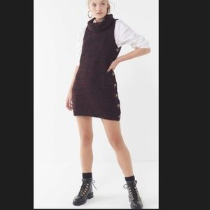 Urban Outfitters Side Button Sweater Dress